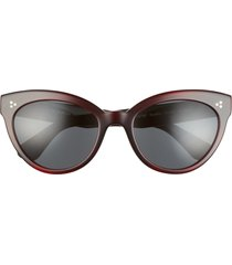 oliver peoples roella 55mm cat eye sunglasses in bordeaux bark /grey at nordstrom