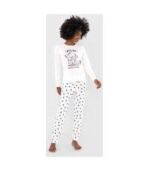 pijama pzama relax off-white/azul