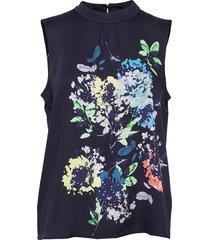 blouses woven blus ärmlös blå esprit collection
