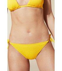 calzedonia elisa narrow tie bikini bottoms woman yellow size 4