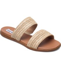 dual sandal shoes summer shoes flat sandals beige steve madden