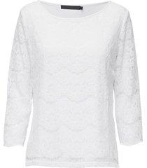 anastacia blouse blouse lange mouwen wit minus