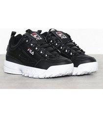 fila disruptor low sneakers svart
