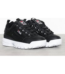 fila disruptor low sneakers svart