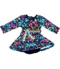 vestido multicolor cante pido mariposa