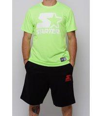 t-shirt korte mouw starter black label starter korte broek in sweatshirt 72905-zwart-rood