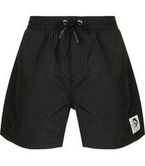 diesel front pocket swim shorts - black