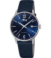reloj acero clasico azul oscuro lotus
