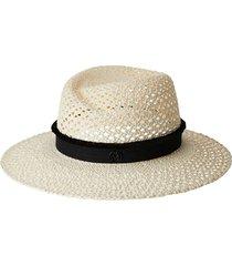 maison michel virginie woven straw hat - neutrals