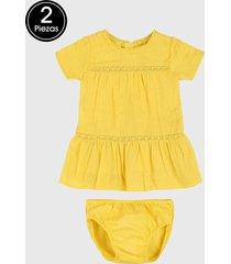 vestido amarillo boboli