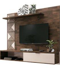 painel bancada suspensa para tv atã© 50 pol. grid deck/off white - hb mã³veis - unico - dafiti