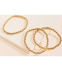 women's isabella beaded bracelet set in gold by francesca's - size: one size