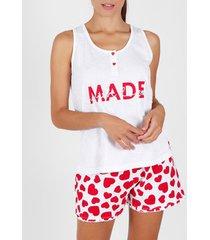 pyjama's / nachthemden admas pyjama shorts tank top gemaakt met love