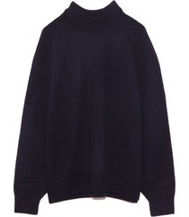 cashmere sweater crewneck oversized pullover in navy