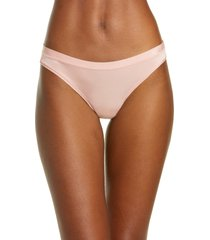 women's madewell softest stretch modal thong, size medium - pink