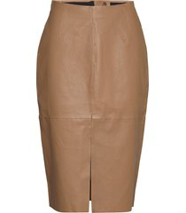 stretch leather - nyx skirts tunics brun sand