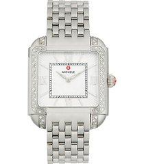 milou diamond stainless steel bracelet watch