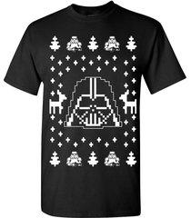 darth vader ugly christmas sweater star wars dark side men's tee shirt b119