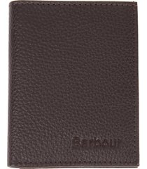 men's barbour amble small rfid leather billfold wallet - brown