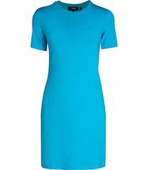 theory women's t-shirt dress - blue - size xs