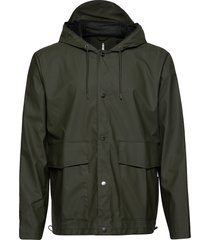 short hooded coat regenkleding groen rains