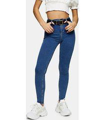 mid blue belt loop joni skinny stretch jeans - mid stone