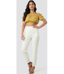 trendyol milla plaid pants - white