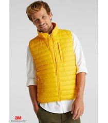 chaqueta sin mangas thinsulate de 3m amarillo esprit