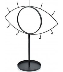 lustro z wieszakami na biżuterię oko