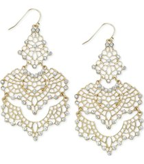 inc crystal lace chandelier earrings