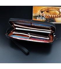 frizione per uomo con cerniera lunga business casual zipper borsa per uomo