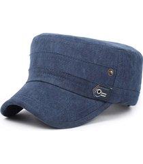 berretto lavato dell'esercito del cappello del sole di colore solido all'aperto delle donne degli uomini