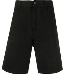 carhartt wip wide-leg cargo shorts - black