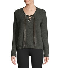 amelia lace-up sweater