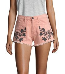 the doll embroidered shorts