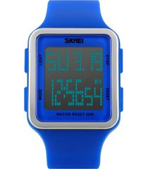 relógio skmei digital 1139 - azul