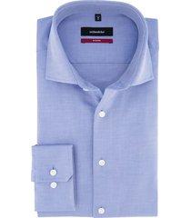 overhemd seidensticker blauw structuur modern fit