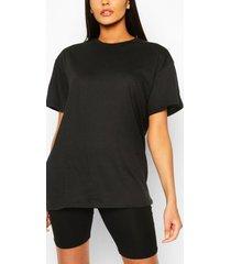 basic oversized t-shirt, zwart