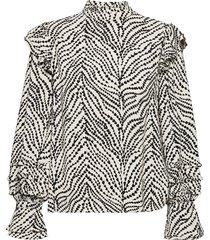 leo frill top blouse lange mouwen zwart fabienne chapot