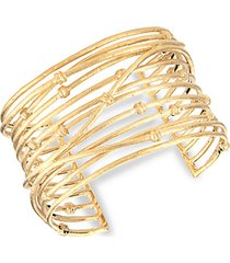 18k yellow goldplated cuff bracelet