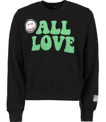 all love crewneck sweatshirt, black