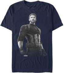 marvel men's avengers infinity war captain america string stare short sleeve t-shirt