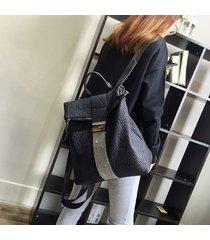 mochila de mujer, mochila de moda para mujer mochila doble de cuero suave