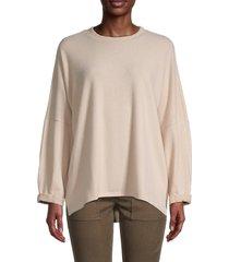 johnny becca women's high-low dolman-sleeve top - blush - size xs