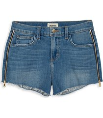 ryland high-rise zip shorts