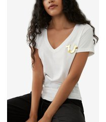 true religion cotton metallic logo t-shirt