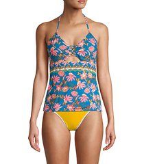 floral open-back tankini