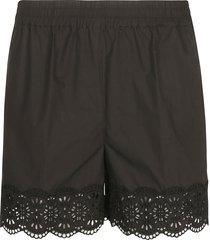 parosh ribbed waist perforated shorts