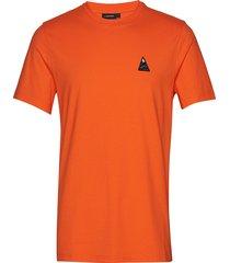 bridge tee-s jersey t-shirts short-sleeved orange j. lindeberg