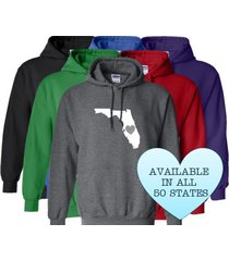 florida hoodie sweatshirt love home heart unisex men women state